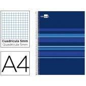 Caderno espiral liderpapel classic a4 160 fls quad azul