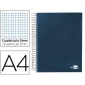 Caderno espiral paper coat 160 fls a4 quad azul