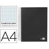 Caderno espiral paper coat 160 fls a4 quad preto