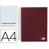 Caderno espiral paper coat 160 fls a4 quad vermelho