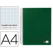 Caderno espiral paper coat 160 fls a4 quad verde