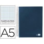 Caderno espiral paper coat 160 fls a5 quad azul