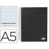 Caderno espiral paper coat 160 fls a5 quad preto