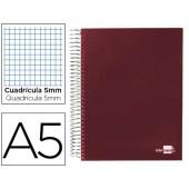 Caderno espiral paper coat 160 fls a5 quad vermelho