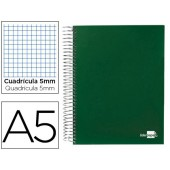 Caderno espiral paper coat 160 fls a5 quad verde