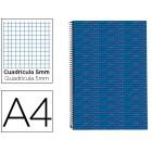Caderno espiral liderpapel multilider a4 140 fls quad azul