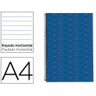 Caderno espiral liderpapel multilider a4 140 fls paut azul