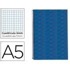 Caderno espiral liderpapel multilider a5 140 fls quad azul