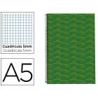 Caderno espiral liderpapel multilider a5 140 fls quad verde
