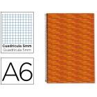 Caderno espiral liderpapel multilider a6 140 fls quadriculado 5 mm-5 cores 70 grs capa forrada laranja liderpapel