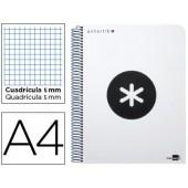 Caderno espiral liderpapel a4 micro antartik capa polipropileno 120 f 100g quadricula 5mm 5 bandas 4 furos cor branco
