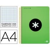 Caderno espiral liderpapel a4 micro antartik capa polipropileno 120 f 100g quadricula 5mm 5 bandas 4 furos cor verde f.