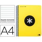 Caderno espiral liderpapel a4 micro antartik capa polipropileno 120 f 100g horizontal 5 bandas 4 furos cor amarelo f.