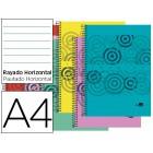 Caderno espiral liderpapel a4 micro imagine capa polipropileno 160 f 60ghorizontal 5 bandas 4 furos cores sortidas