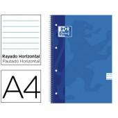 Caderno espiral oxford european book din a4 50 folhas pautado papel 90 grs