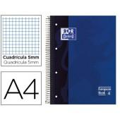 Caderno espiral oxford capa dura microperfurado din a4 80 folhas quadricula 5mm -cor azul