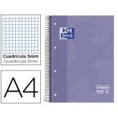 Caderno espiral oxford capa dura microperfurado din a4 80 folhas quadricula 5mm -cor lilas