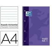 Caderno espiral oxford capa extradura microperfurado din a4 80 folhas pautado cor lilas