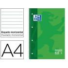 Caderno espiral oxford capa extradura microperfurado din a4 80 folhas pautado cor verde