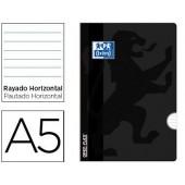 Caderno agrafado oxford open flex din a5 48 folhas pautado cor preto