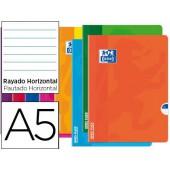 Caderno agrafado oxford open flex din a5 48 folhas pautado cores sortidas