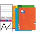 Caderno agrafado oxford open flex din a4 48 folhas pautado cores sortidas