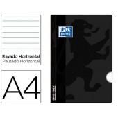 Caderno agrafado oxford open flex din a4 48 folhas pautado cor preto