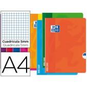 Caderno agrafado oxford open flex din a4 48 folhas quadricula 5mm cores sortidas