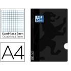 Caderno agrafado oxford open flex din a4 48 folhas quadricula 5mm cor preto