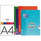 Caderno escolar agrafado oxford capa flexivel optik paper openflex 48 folhas 90 gr din a4 liso cores sortidas