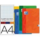 Caderno agrafado oxford din a4 48 folhas quadricula 5mm cores sortidas