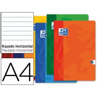 Caderno agrafado oxford din a4 48 folhas pautado cores sortidas