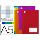 Caderno escolar liderpapel 16f a5 quad 4 mm