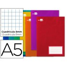 Caderno escolar liderpapel 32f a5 quad 8 mm