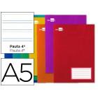 Caderno escolar liderpapel 16f a5 pauta 3.5 mm