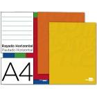 Caderno escolar agrafado liderpapel 80 fls a4 pautado 60gr