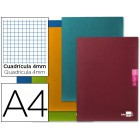 Caderno escolar liderpapel scriptus 48 f din a4 quadriculado 4 mm papel 90 gr com margem