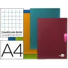 Caderno escolar liderpapel scriptus 48 f din a4 quadriculado 8 mm papel 90 gr com margem