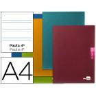 Caderno escolar liderpapel scriptus 48 f din a4 pauta larga 3.5 papel 90 grs