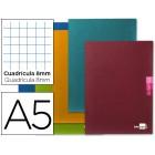 Caderno escolar liderpapel scriptus 48 f din a5 quadriculado 8 mm papel 90 gr com margem