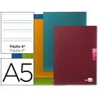 Caderno escolar liderpapel scriptus 48 f din a5 pauta larga 3.5 papel 90 grs