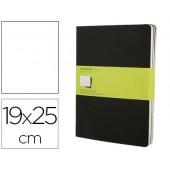 Livro de apontamentos moleskine 19x25 cm liso 120 folhas com 16 folhas removiveis capa dura cor preto