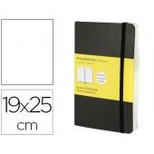 Livro de apontamentos moleskine 19 x 25 cm liso 192 folhas capa flexivel cor preto fecho elastico
