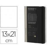 Livro de apontamentos moleskine profissional 13x21 cm 240 folhas com planning notas tarefas capa dura cor preto