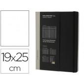 Livro de apontamentos moleskine profissional 19x25 cm 240 folhas com planning notas tarefas capa dura cor preto