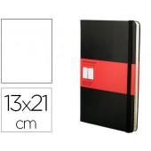 Livro de apontamentos moleskine 13 x21 cm pautado com indice 240 folhas capa dura cor preto fecho elastico