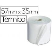 Rolos para maquina calculadora termico 57 mm larg x 35mm diametro para maquinas de terminal ponto de venda