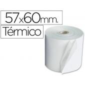 Rolos para maquina calculadora termico 57mmx60mtx11mm