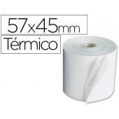 Rolos para maquina calculadora termicos 57x45x11mm 58 grs
