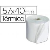 Rolos para maquina calculadora termicos 57x40x11mm 58 grs